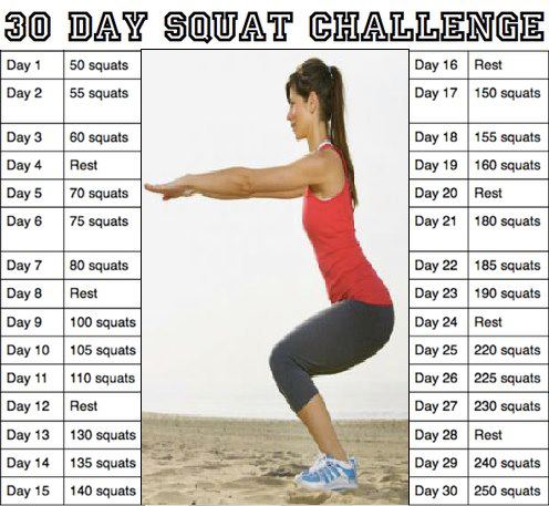 30 Day Sit Up Challenge Calendar | Printable Calendar 2019