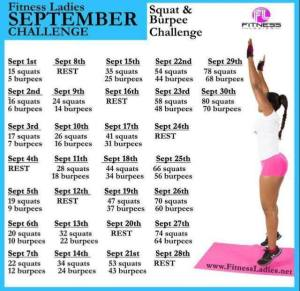 Burpee and Squat Challenge